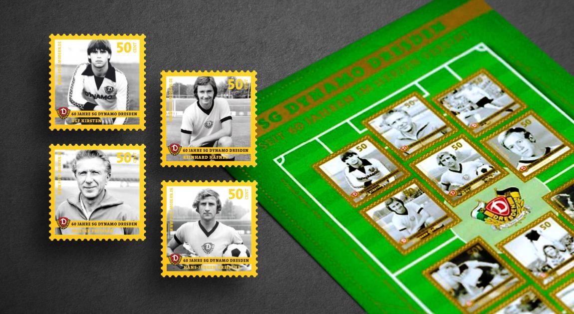 postmodern-briefmarken-philatelie-ersttagskarte-dynamodresden-fußball-veredlung-prägung-stanzung-grafikdesign-berlin